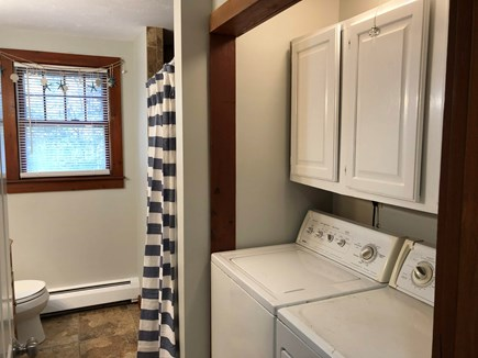 Cotuit Cotuit vacation rental - Washer/dryer in full bathroom of first floor.