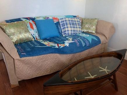 Wareham, Swift's Beach MA vacation rental - Love seat in downstairs TV room
