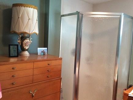 Wareham, Swift's Beach MA vacation rental - Corner Shower unit in downstairs Master Bedroom