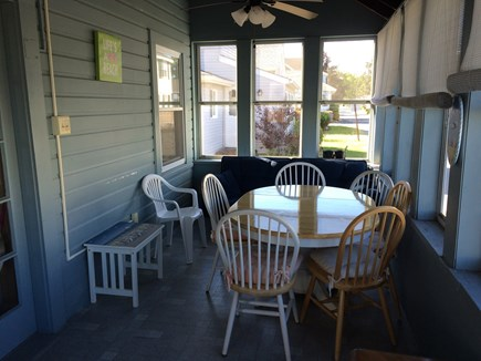Wareham, Swift's Beach MA vacation rental - Enclosed front porch for relaxing with the ocean breeze