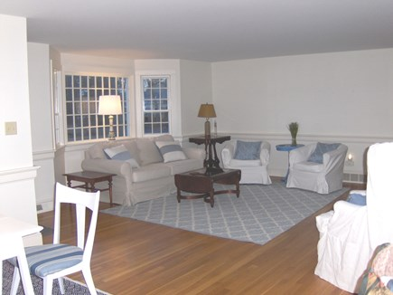 Yarmouth Port Cape Cod vacation rental - New comfy Pottery Barn sofa and drum chairs