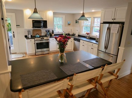 East Orleans Cape Cod vacation rental - Fully equipped kitchen with new appliances. PB dishware.