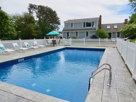 East Orleans Cape Cod vacation rental - Pool area with seating for lounging and dining