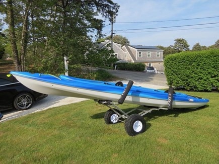 East Orleans Cape Cod vacation rental - Kayak on beach cart for transport to Nauset Inlet at end of Road.
