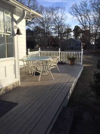 Centerville, West Hyannis Port Centerville vacation rental - Back Deck, very sunny