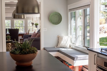 Duxbury MA vacation rental - Comfortable bench seating in kitchen exposed to natural light