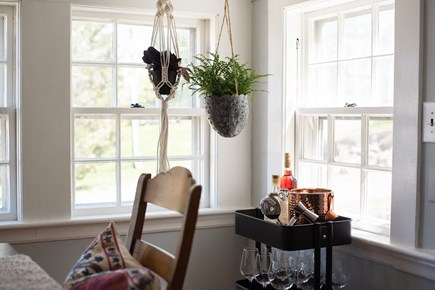 Duxbury MA vacation rental - Bar cart situated next to dining room table for easy access