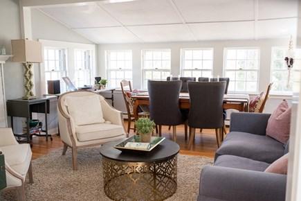 Duxbury MA vacation rental - Spacious living room/dining area
