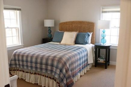 Duxbury MA vacation rental - First floor bedroom with queen bed, walk-in closet, & bureau