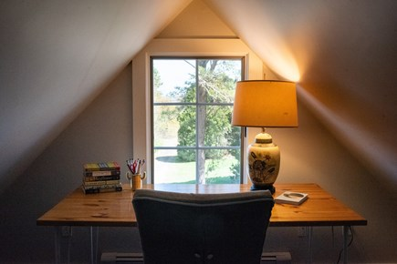 Duxbury MA vacation rental - Desk area that can be used for work, reading, or arts and crafts.