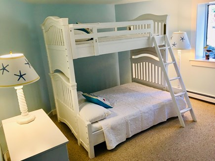 Orleans Cape Cod vacation rental - Bedroom #2:  Full & Twin Bunk Bed with new carpet