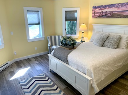 Orleans Cape Cod vacation rental - Bedroom #4- Queen Bed w/ outdoor entrance & full bath on same flr