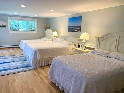 Orleans Cape Cod vacation rental - Large Bedroom #3:  1 Queen & 2 Full Size Beds w/ walk-in closet