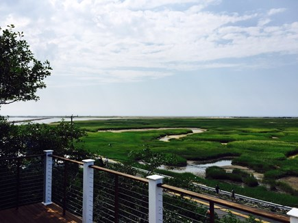 Provincetown Cape Cod vacation rental - Early morning view southeast to ocean and jetty