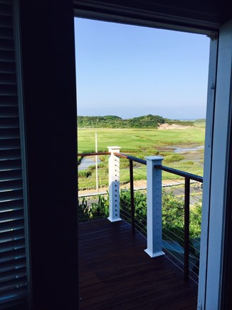 Provincetown Cape Cod vacation rental - Stepping out from living room onto main deck