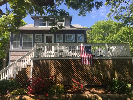 North Falmouth Cape Cod vacation rental - Entrance with wrap around deck