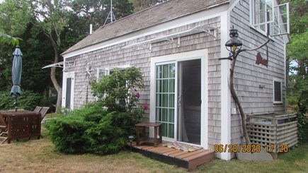 Truro Cape Cod vacation rental - Slider to bedroom with deck - great place for morning coffee
