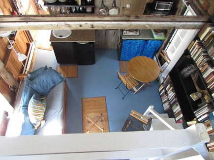 Truro Cape Cod vacation rental - Looking down from the loft