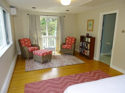 Wellfleet, Indian Neck Cape Cod vacation rental - Master suite with private bath, sliding doors towards back yard