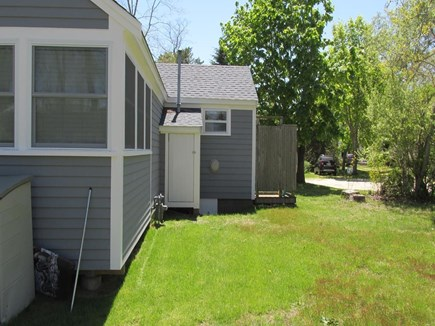 Eastham Cape Cod vacation rental - Cottage Back Yard to Outside Shower