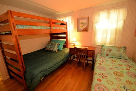 Yarmouth, Cottage is just of of Route 28 Cape Cod vacation rental - Bedroom #2 with twin and bunk beds accommodates 4