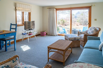 South Chatham Cape Cod vacation rental - Lower level - TV and Children Play Area
