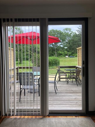 Sandwich Cape Cod vacation rental - Have your morning coffee or evening drink on the expanded deck.