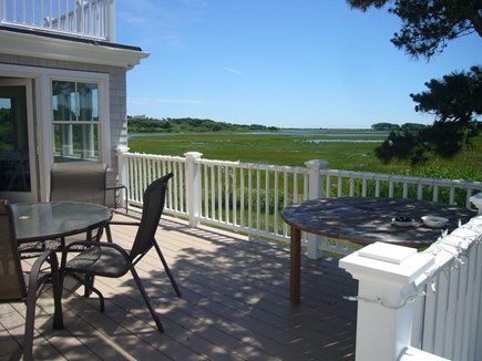 West HyannisPort Cape Cod vacation rental - Porch with panorama marsh and water views