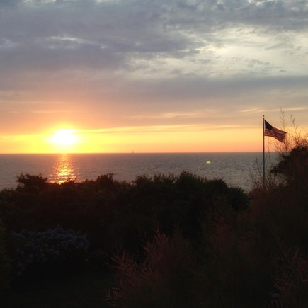 Falmouth Cape Cod vacation rental - Sunset from house/deck