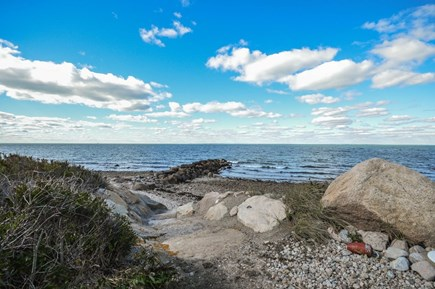 Falmouth Cape Cod vacation rental - Rocky beach behind house