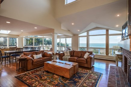 Falmouth Cape Cod vacation rental - Family room with ocean view