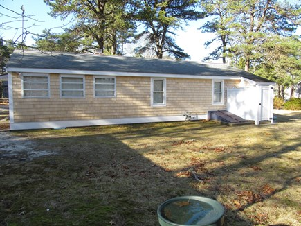 South Dennis Cape Cod vacation rental - Rear view w/outside shower on right