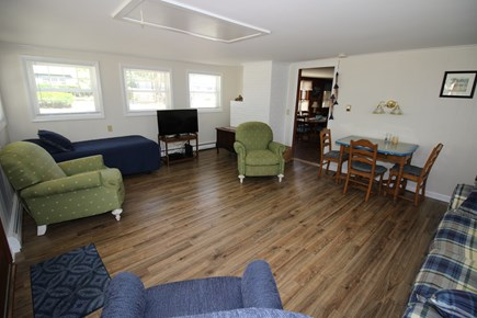 South Dennis Cape Cod vacation rental - Living room with door to dining