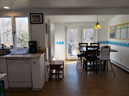 Hyannis Cape Cod vacation rental - View of Eating Area from Family/Living Room