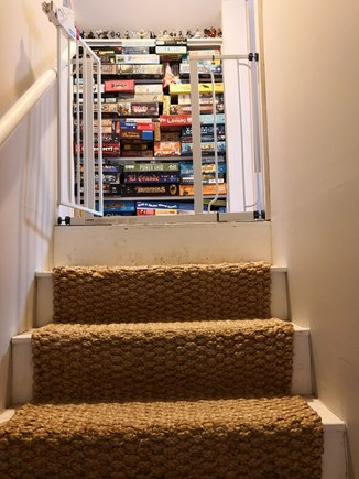 Hyannis Cape Cod vacation rental - Stairs and Board Game Collection