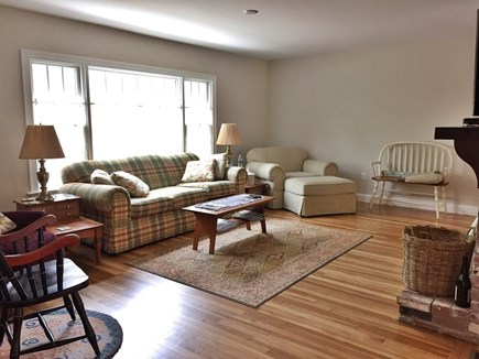 Chatham Cape Cod vacation rental - Living room with smart TV over fireplace