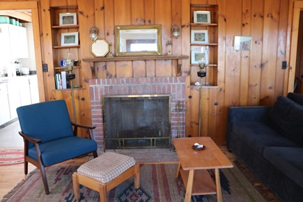 Truro Cape Cod vacation rental - Working fireplace in living room