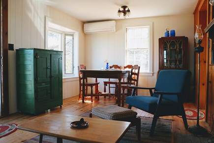 Truro Cape Cod vacation rental - Bay window with dining area