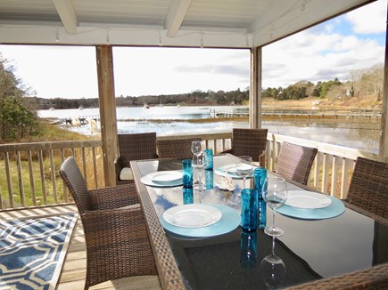 Chatham Cape Cod vacation rental - Dining with a water view, whether inside or outside.