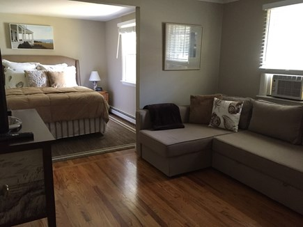 East Orleans Cape Cod vacation rental - Master bedroom sitting room pull-out sofa