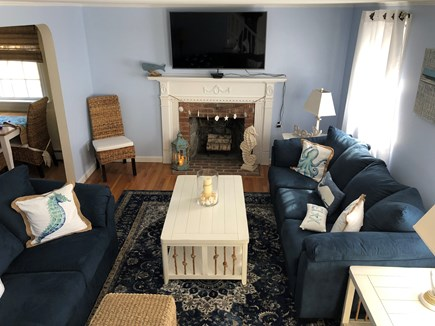 South Yarmouth Cape Cod vacation rental - Livingroom with Fireplace