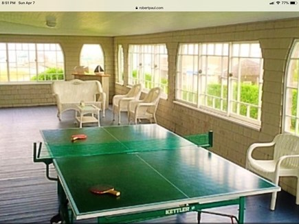 Hyannisport Cape Cod vacation rental - Pong on the enclosed porch