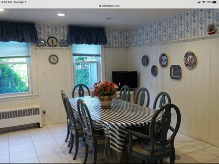 Hyannisport Cape Cod vacation rental - Dining area of the kitchen