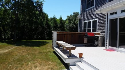 Orleans Cape Cod vacation rental - Rear deck, grill, granite beverage bar