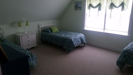 Orleans Cape Cod vacation rental - Green Room with  3 twin beds upstairs