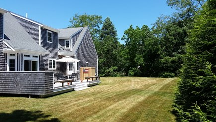 Orleans Cape Cod vacation rental - Private back yard for Bocce? Wiffle ball?