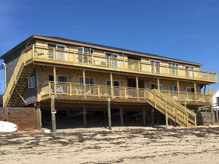 Truro Cape Cod vacation rental - Condo as seen from the beach. Unit is upper left.