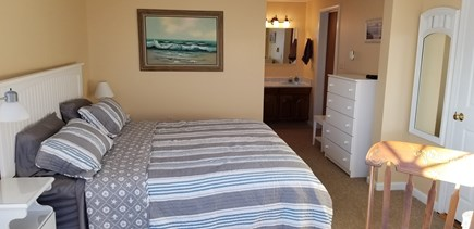 Truro Cape Cod vacation rental - Master bedroom also has a vanity sink and 32 in. smart TV.
