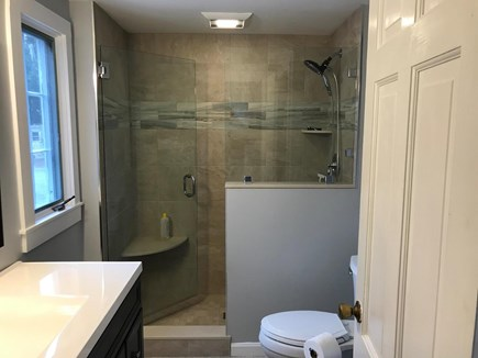 West Barnstable Cape Cod vacation rental - First floor master bathroom with walk in shower