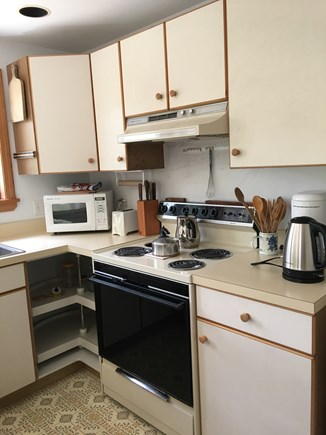 Wellfleet Cape Cod vacation rental - Kitchen with dishwasher, microwave, oven/stove, fridge, kettle